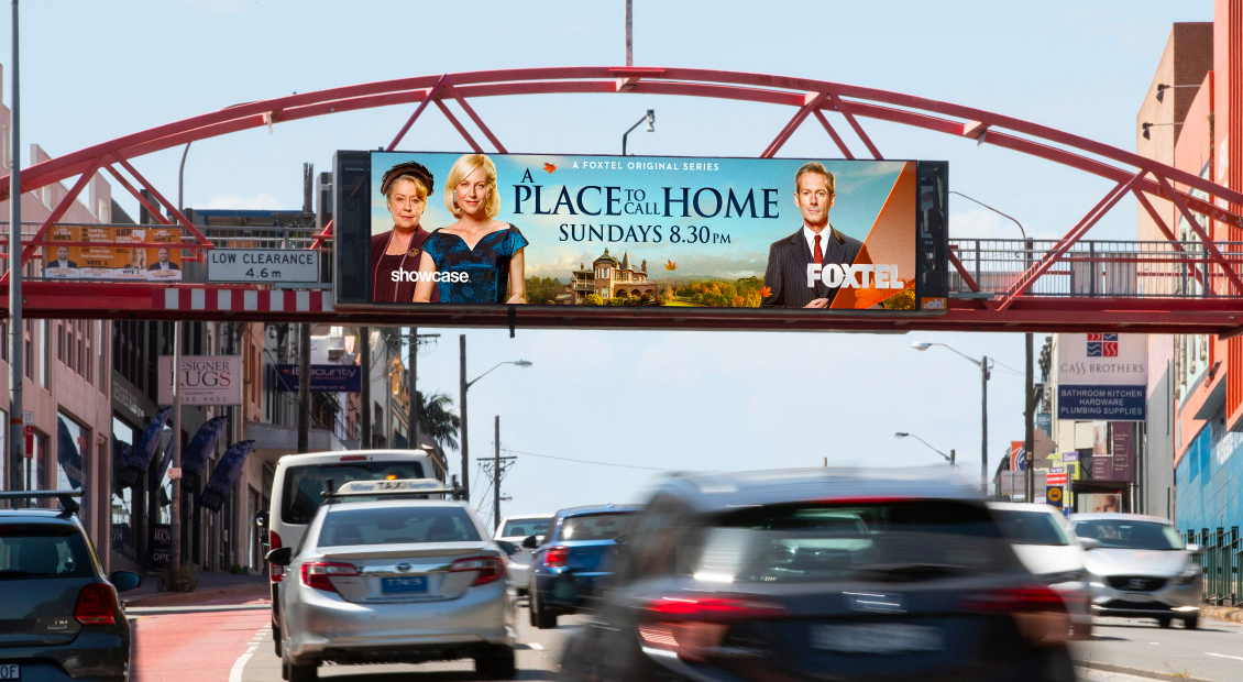 A Place To Call Home final wide poster in situ billboard
