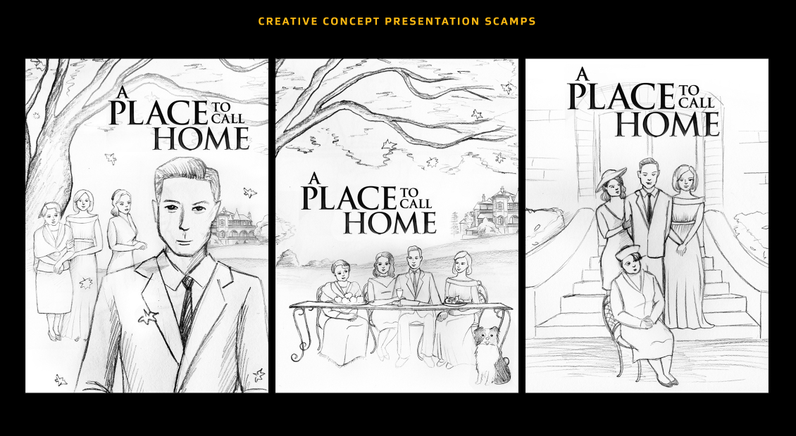 A Place To Call Home triptych concept art